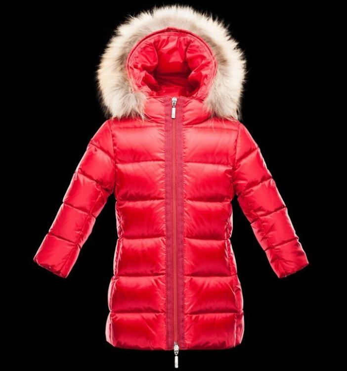 Moncler Enfant Nantesfur Kids Coats Red