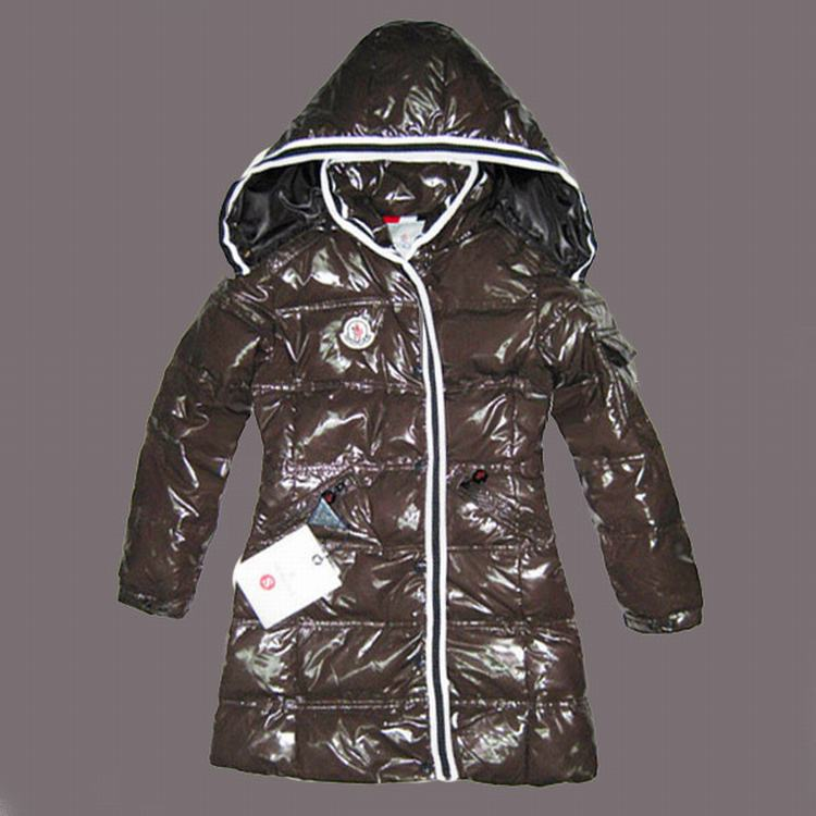 Moncler Quancy Kids Long Coats Brown