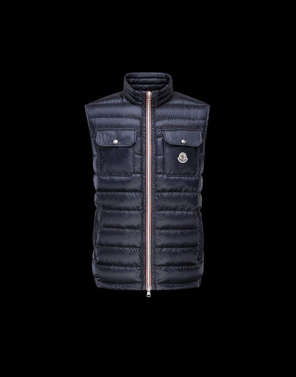 MONCLER ACHILLE Men VEST Blue