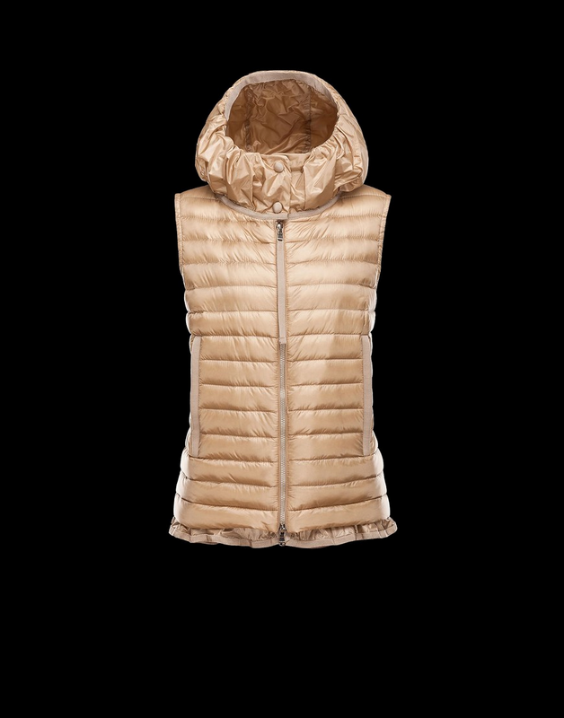 MONCLER EBLE Women Vest Wine Gold