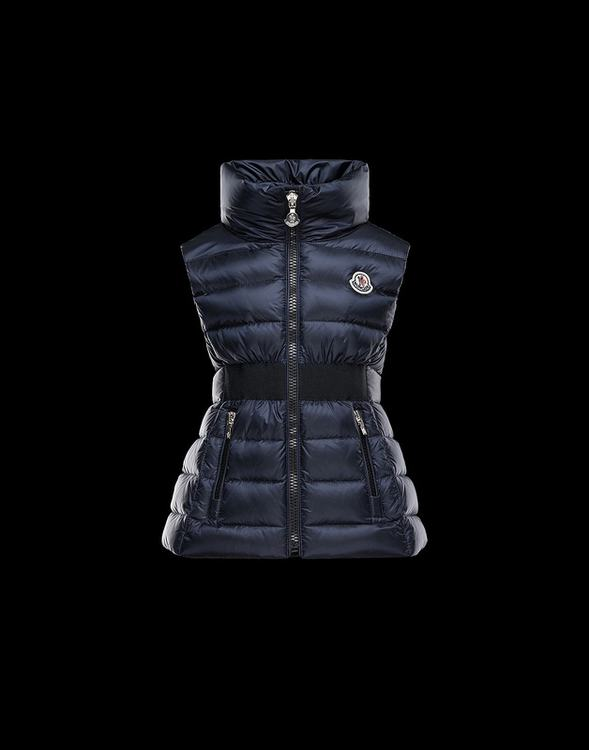 MONCLER ELOEE Women Low Vest Blue