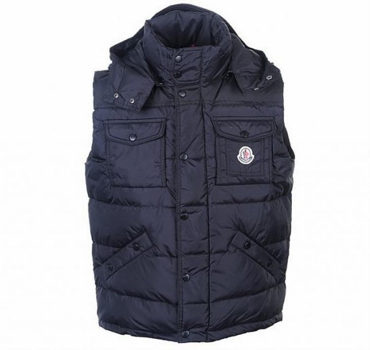 Moncler Noir Men Vest Blue