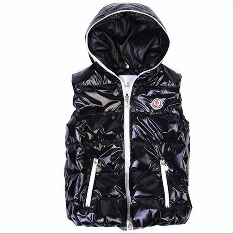 Moncler V41 Men Women Vest Black