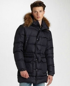 Moncler Riviere Men Coats Dark Blue